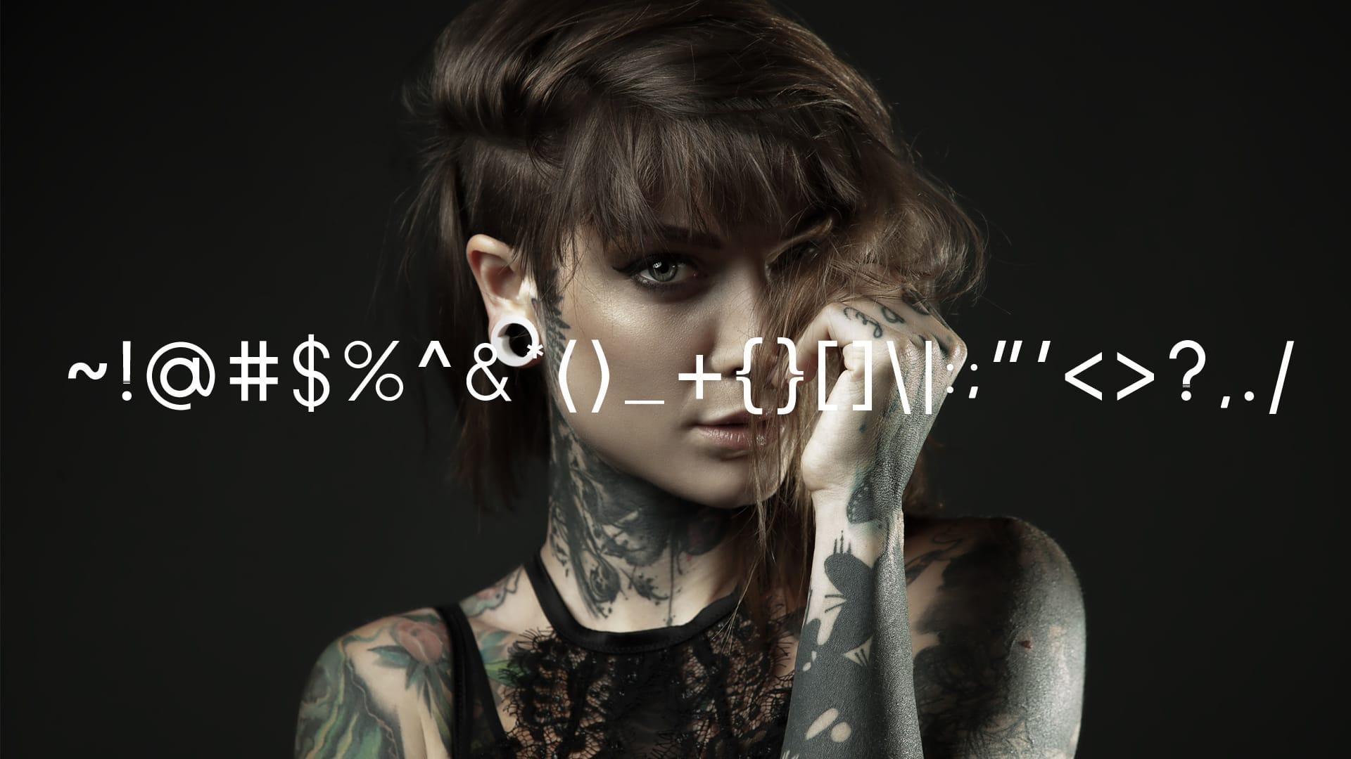 Avenue X font characters