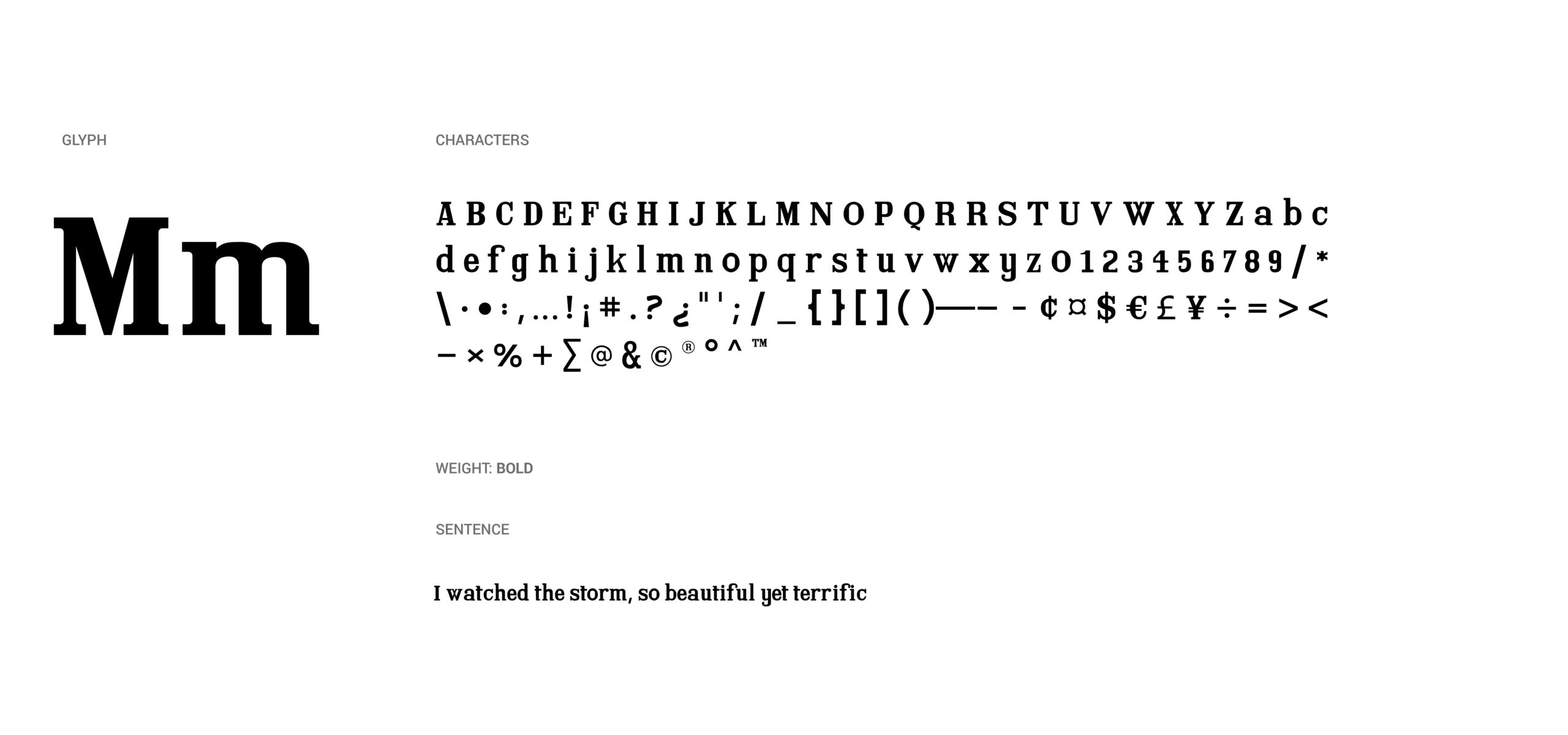 Xanthie font glyphs