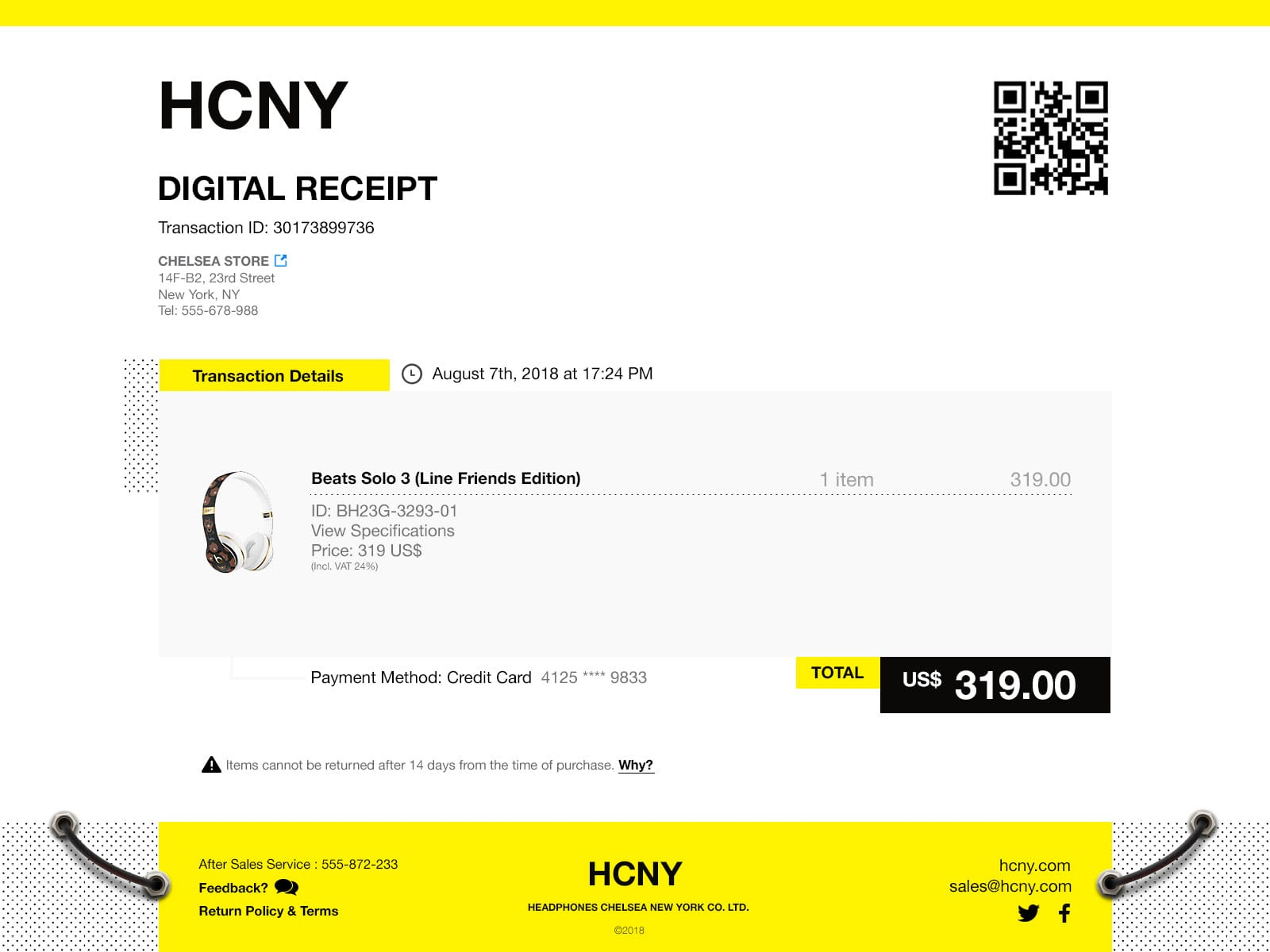 Daily UI 17 Email receipt