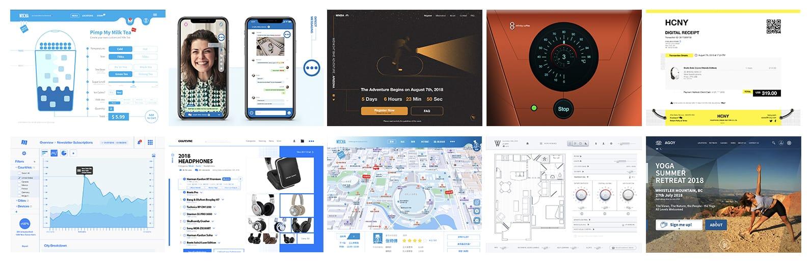 Daily UI screens