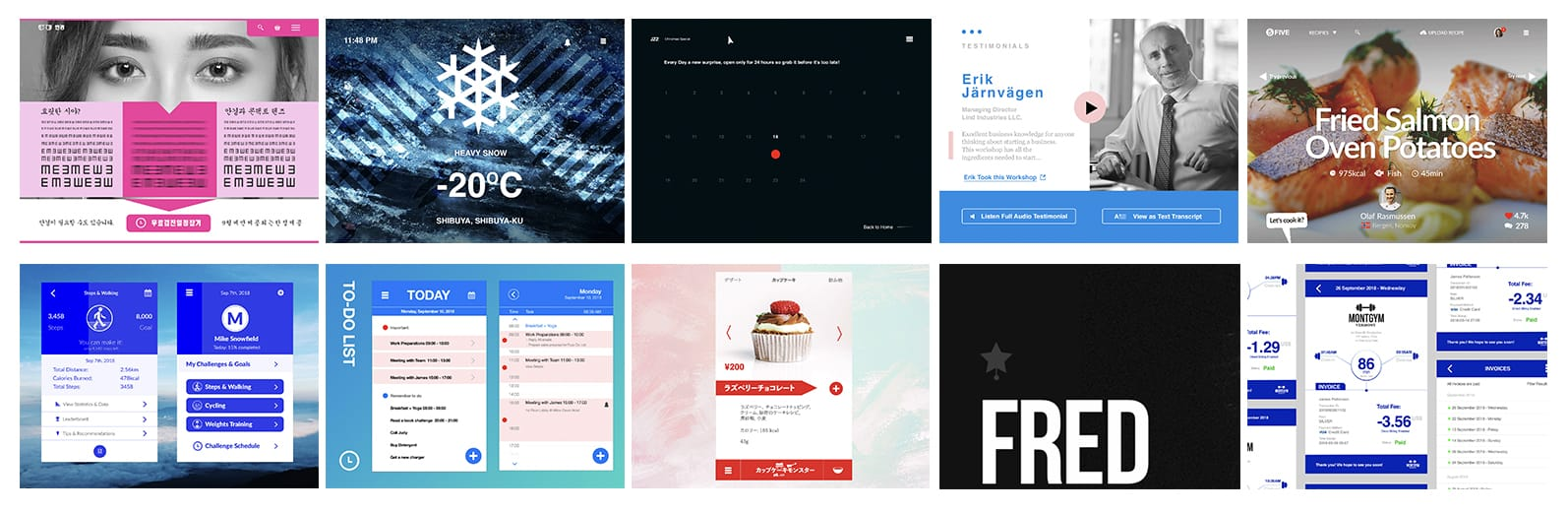 daily ui screens