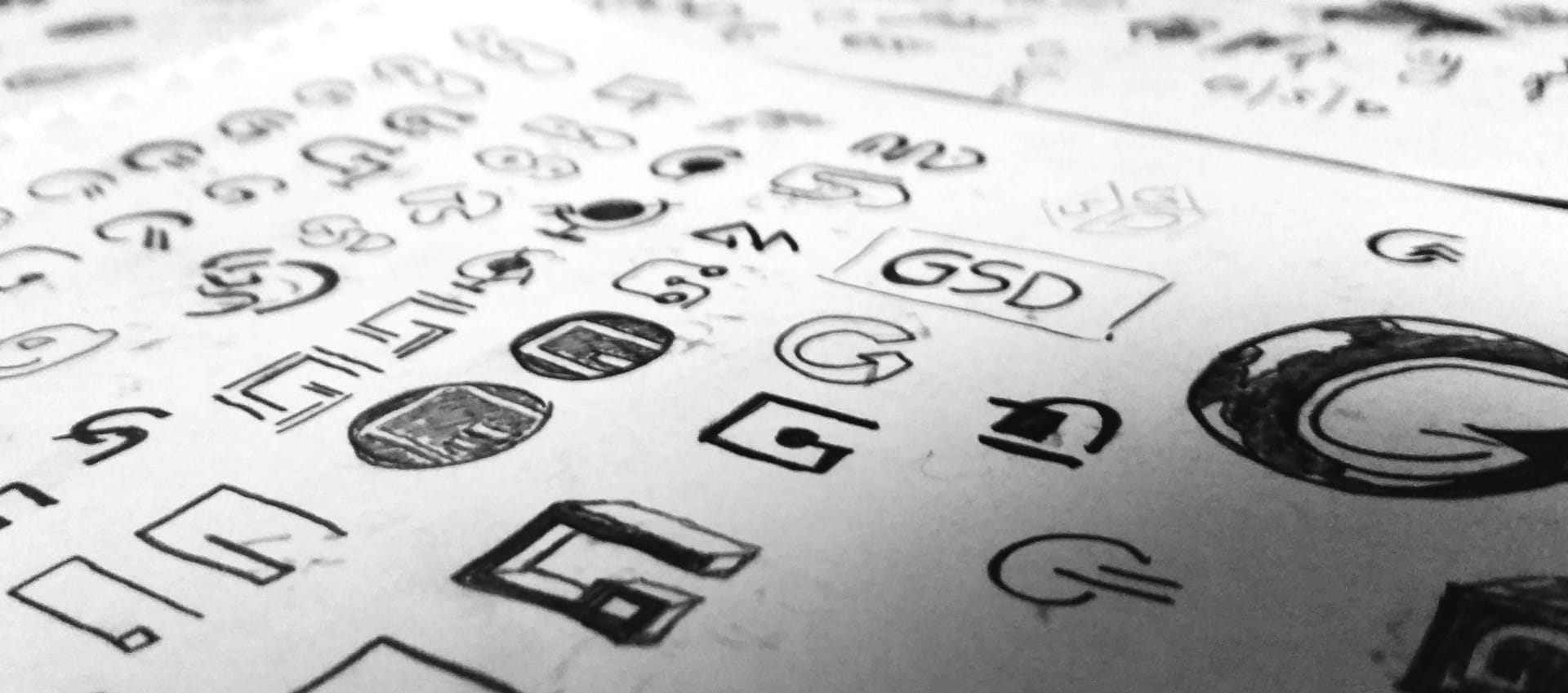 initial logo sketches
