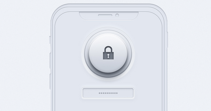 mobile app with a lock